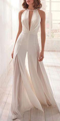Women's Fashion See-through Split Jumpsuit - Fashion Designers Look Fashion, Womens Fashion, White Fashion, Fashion 2017, Fashion Design, Short Women Fashion, Fashion Fashion, Vintage Fashion, Trendy Outfits