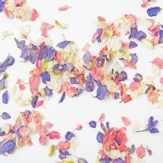 Dried petal confetti gorgeous colours #wedding #confetti #flowers