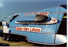 Atlas Van Lines Hydroplane | RC Boat Company part# SG110H 1/8 Scale RC Boat Racing Hull Kit