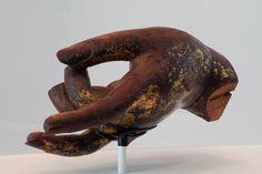 Left Hand of a Colossal Buddha Amitābha (Amida Nyōrai), c. Japan, Kamakura period, Attributed to Kaikei, active c. Hand Sculpture, Sculptures, Kamakura Period, Show Of Hands, Harvard Art Museum, Pebble Painting, Creative People, Left Handed, Art Images