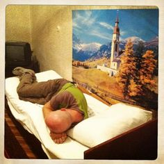 Mongol Rally, Day 23: No stars for this hotel. The posters are about the only happy thing about this hotel.