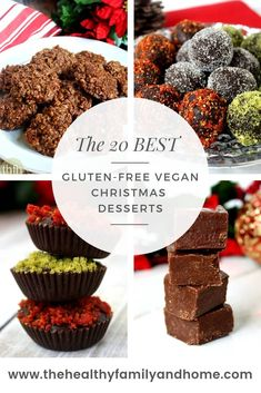The 20 BEST Gluten-Free and Vegan Christmas Desserts.clean healthy perfect for. Matea Babic mateababic Bozic The 20 BEST Gluten-Free and Vegan Christmas Desserts.clean healthy perfect for the holidays and are easy and simple to make! Peanut Butter Desserts, Gluten Free Desserts, Chocolate Desserts, No Bake Desserts, Healthy Desserts, Vegan Gluten Free, Easy Desserts, Dessert Recipes, Dairy Free