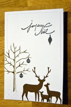 Deer in the snow by scrapinne - Cards and Paper Crafts at Splitcoaststampers