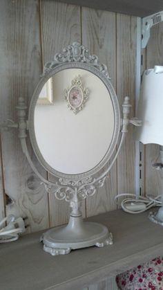 Miroir ancien Psyché en bronze patinée