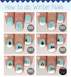 How-to Christmas nail art - We've got happy nails with our penguin perfection nail art by One Nail To Rule Them All