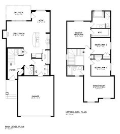 1000 images about floor plans on pinterest otr for 2 story floor plans with master on main floor