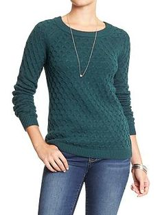 Women's Honeycomb-Knit Sweaters   Old Navy - Size: Tall-Large