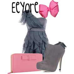 Eeyore, created by sydney-emerson on Polyvore