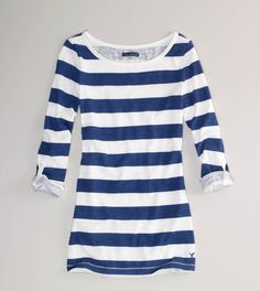Perfect for the nautical trend.. I would pair it with some ankle capris, red patent leather ballet flats, and gold accessories.