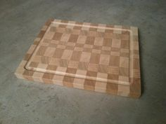 Planche à découper en bois de bout End grain cutting board