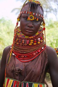 Turkana woman from Kenya,Afrika