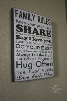 Family quote~ I have this hanging in my house :)