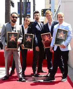 Backstreet Boys get a star on the Walk of Fame