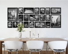 Wall Mounted 20 Piece Photo Frame Set - Black $69.00
