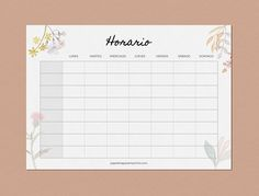 Schedules to print, weekly- Stationery to Print – The best ideas School Planner, School Calendar, Bullet Journal School, Bullet Journal Inspo, Diy Agenda, School Timetable, School Labels, School Notebooks, Good Notes