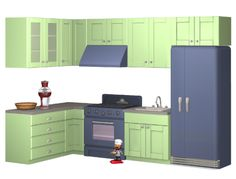 veranka's Back To Retro Kitchen in yeti colors Wall Cabinet C is now repositoried to B credit and thanks to and 1950s Kitchen, Buy Kitchen, Kitchen Dining, Kitchen Decor, Sims 2 Games, Sims 1, Sims House, Room Set, Wall Colors