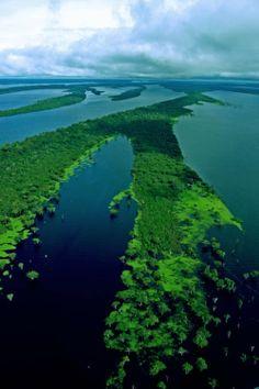 Black river in Amazon, Colombia