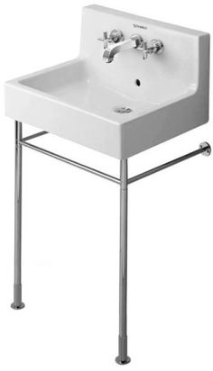 """Vero Metal console height adjustable +2"""", Design by Duravit, for washbasin # 045360 and 045460"""