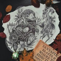 """georginatattoo: """"Just wanted to say thank you so much to everyone who sent a kind message or comment regarding the unfortunate event of last week. I've drawn up a Niffler stealing a Philosophers Stone and Pickett the Bowtruckle and I'd love to tattoo. Leg Tattoos, Body Art Tattoos, Tattoo Drawings, Sleeve Tattoos, Tatoos, Arrow Tattoos, Harry Potter Tattoos Sleeve, Disney Tattoos, Hp Tattoo"""