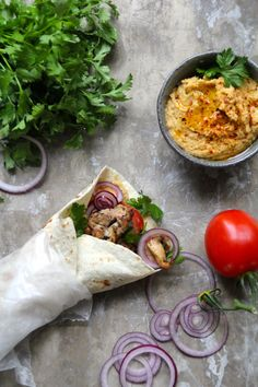 Spicy Hummus, Wraps, Chana Masala, Eating Well, A Food, Tacos, Mexican, Healthy, Ethnic Recipes