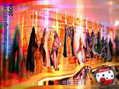 Elit-Visual:. Proyecto MerchandisingHISTORY. Galería de jeans con luz neón. #elitvisualsas #elitvisualcompany Fair Grounds, History, Product Display, Blue Prints, Historia