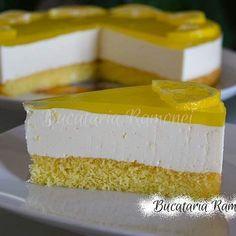 Ador deserturile cu citrice, asa ca azi vin cu un. Vanilla Cake, Nutella, Cheesecake, Desserts, Food, Tailgate Desserts, Deserts, Cheesecakes, Essen