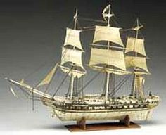 French Prisoner of War, Ivory ship model, first half of the nineteenth century