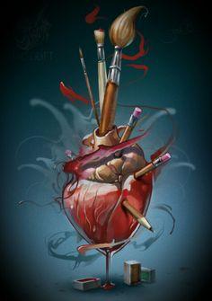 Thompas an artist's heart
