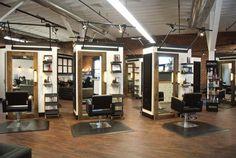 Misbehaven Spa & Salon in Walla Walla, Washington, captures a Salon of Distinction award in the 2014 SALONS OF THE YEAR competition. Home Beauty Salon, Beauty Salon Decor, Nail Salon Design, Salon Interior Design, Salon Stations, Styling Stations, Makeup Studio Decor, Salon Lighting, Barber Shop Decor