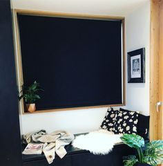 Window seat as part of kitchen design, white wood and black colour scheme. Jacks Point home, Queenstown, NZ Modern Kitchen Sinks, Black Barn, White Wood, Color Schemes, Kitchen Design, New Homes, Windows, Colour, Architecture