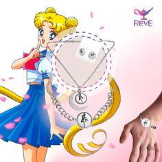 Hermosa joyeria de fantasia de Sailor Moon.  solo de venta en: www.reve.mx https://www.facebook.com/revemex/