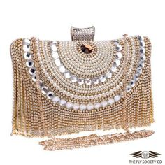 Fly Women's Bags and Purses v.63 | Elegant Beaded Rhinestones Evening Bags $19.99