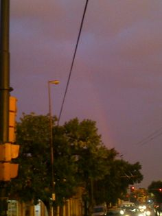 Un lindo arcoiris en un día único ;)