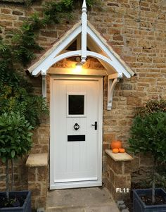 Cottage Doors | Painted hardwood framed ledged door with vision panel and frame