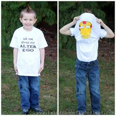 Superhero Flip T-shirt Tutorial {733 Blog}