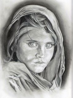 Does this portrait look familiar? Featured Student Project: Afghan Girl Class: Start Drawing: Techniques for Pencil Portraits