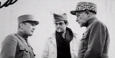 ontheset:  Kirk Douglas, Stanley Kubrick and George Macready on the set of Paths of Glory