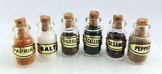 Dolls House Miniature Shop Kitchen Pantry Accessory Filled Storage Spice Jars | eBay