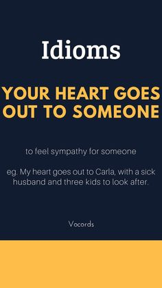Your heart goes for someone from Idiom – # somebody – - Bildung Advanced English Vocabulary, Learn English Grammar, English Vocabulary Words, Learn English Words, English Phrases, Grammar And Vocabulary, English Language Learning, Teaching English, Vocabulary Journal
