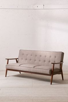 Shop Wyatt Sofa at Urban Outfitters today. We carry all the latest styles, colors and brands for you to choose from right here. Modern Decor, Mid-century Modern, Faux Leather Sofa, Walnut Wood, Minimalist Design, Furniture Design, Retro Furniture, Painted Furniture, 5 D