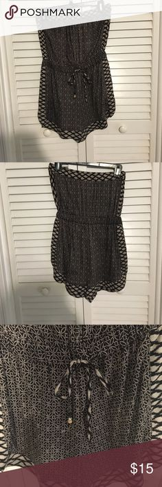 Angie Black and Gray Romper Drawstring waistline. Size Small. Other