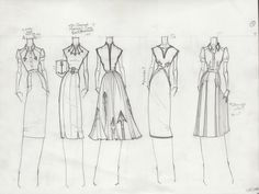 "Fashion Sketchbook - dress sketches with pleats & embroidery - fashion design drawings; fashion portfolio // Jacob ""TheBocaj"""