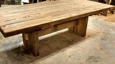 Your Custom Made Rustic Reclaimed Barn Wood Butcher Block Dining Or Table
