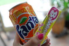 Fanta and bubble gum