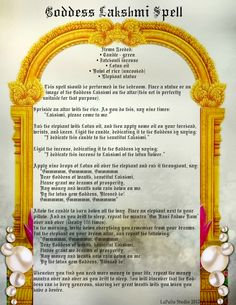 Goddess Lakshmi Spell for Wealth and Prosperity - Page 2