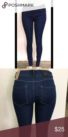 One Tuff Babe True Blue: Colombian Slim Fit jeans Descriptions:  * 4-pocket, ankle length jeans, in washed stretch, mid-rise denim with regular waist, slim straight legs  * Maximize booty push-up and tummy flattening  Details: * Zip-fly, one button  * 75.4% cotton, 23.4% Polyester, 1.2% Spandex.  * Imported  * Machine wash cold, with like colors  * Various Junior sizes available: 1,3,5,7,9,11,13,15 •discount on wholesales available, please message   All sales are final.  Sold by Gleeup Inc…