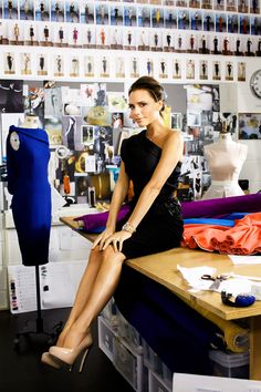 Victoria Beckham at her studio. I just love her. such an inspiration