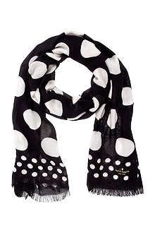 KATE SPADE Dot scarf with a nice nude color tank top