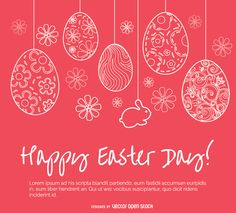 Dedicate a beautiful message to your loved ones with this vector featuring artistically decorated eggs hanging with flowers. High quality JPG included.