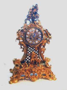 Raingo Freres. Ormolu mantle clock.
